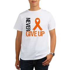 NeverGiveUp OrangeRibbon Organic Men's T-Shirt