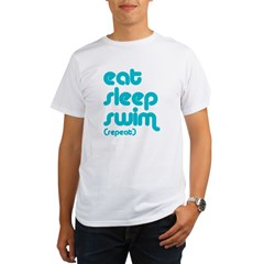 Eat, Sleep, Swim Organic Men's T-Shirt
