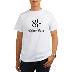 Cyber Vato Black Text Organic Men's T-Shirt