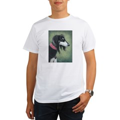Saluki (Black and Silver) Organic Men's T-Shirt