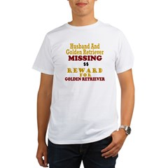 Husband & Golden Retriever Missing Organic Men's T-Shirt