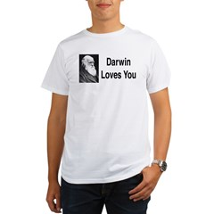 Darwin Loves You Organic Men's T-Shirt