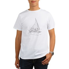 Sailboat Cats Organic Men's T-Shirt