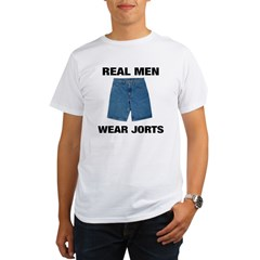 Real Men Wear Jorts Organic Men's T-Shirt