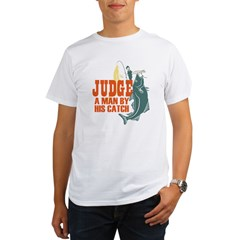 Judge A Man By His Catch Organic Men's T-Shirt
