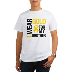 I Wear Gold For My Brother Organic Men's T-Shirt