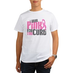 I Wear Pink For The Cure 6.2 Organic Men's T-Shirt
