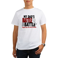 My Battle Too 1 PEARL WHITE (Dad) Organic Men's T-Shirt