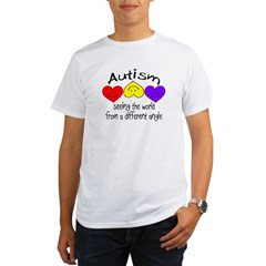 Autism, Seeing The World From A Different Angle Organic Men's T-Shirt