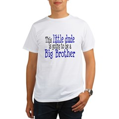 Little Dude is a Big Brother Organic Men's T-Shirt