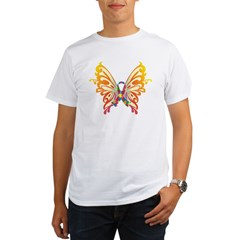 Autism Butterfly Ribbon Organic Men's T-Shirt