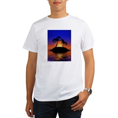 sunrise-sunset--palm-tree-s.jpg Organic Men's T-Shirt