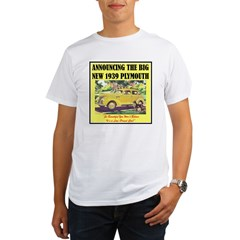"""1939 Plymouth Ad"" Organic Men's T-Shirt"