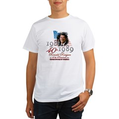 40th President - Organic Men's T-Shirt