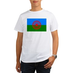 Romani Flag (Gypsies Flag) Organic Men's T-Shirt