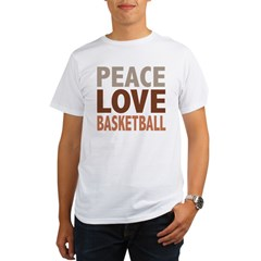 Peace Love Basketball Organic Men's T-Shirt