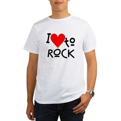 I Love to Rock: Organic Men's T-Shirt