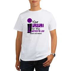 I Wear Purple For My Mother-In-Law 9 PC Organic Men's T-Shirt