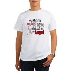 Angel 1 MOM Lung Cancer Organic Men's T-Shirt