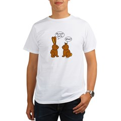 Funny Chocolate Bunnies Organic Men's T-Shirt