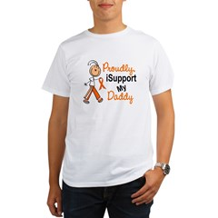 iSupport My Daddy SFT Orange Organic Men's T-Shirt