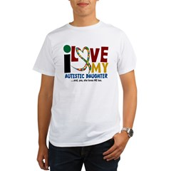I Love My Autistic Daughter 2 Organic Men's T-Shirt