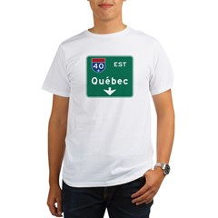 Quebec, Canada Hwy Sign Organic Men's T-Shirt