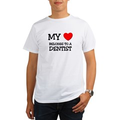 My Heart Belongs To A DENTIS Organic Men's T-Shirt