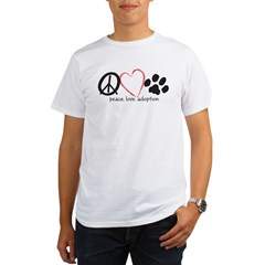 peace love adoption.001 Organic Men's T-Shirt