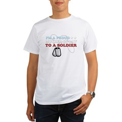Proud MIL to a Soldier Organic Men's T-Shirt