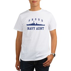 Proud Navy Aunt Organic Men's T-Shirt