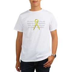 Stand Behind Our Troops Organic Men's T-Shirt