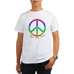 Peace.Love.Soccer Organic Men's T-Shirt