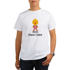 PICU Nurse Chick Organic Men's T-Shirt