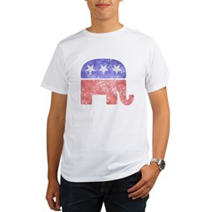 2-RepublicanLogoTexturedGreyBackgroundFadedTs Organic Men's T-Shirt