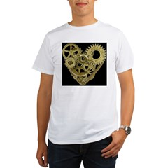Women's Steampunk Heart T-Shirt (black) Organic Men's T-Shirt
