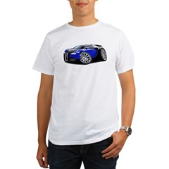 Veyron Black-Blue Car Organic Men's T-Shirt