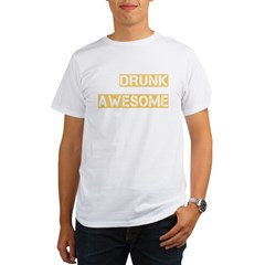 drunk awesome_dark Organic Men's T-Shirt
