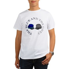 Blue and Grey Organic Men's T-Shirt