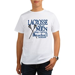 Men Play Lacrosse Organic Men's T-Shirt