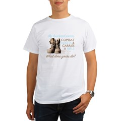 My Husband Wears Combat Boots Organic Men's T-Shirt