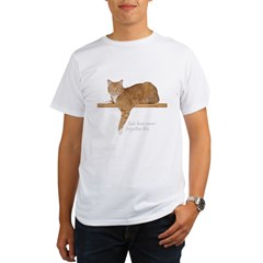 Orange Cat Ginger Kitty Organic Men's T-Shirt