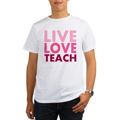Live Love Teach Organic Men's T-Shirt