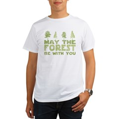may the forest be with you light green.PNG Organic Men's T-Shirt