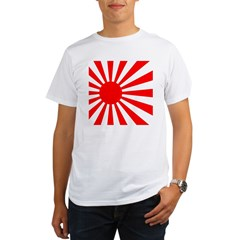 JAPANESE RISING SUN FLA Organic Men's T-Shirt