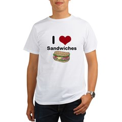 i love sandwiches Organic Men's T-Shirt
