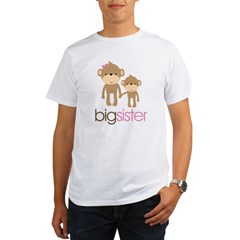 Monkey Big Sister Organic Men's T-Shirt