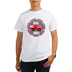 Big Brother Fire Truck Organic Men's T-Shirt