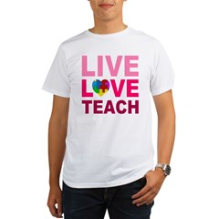 Live Love Teach Autism Organic Men's T-Shirt