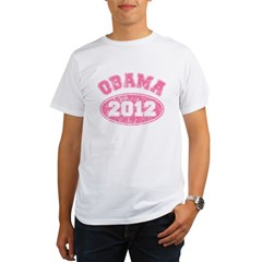 OBAMA 2012 Pink Faded Organic Men's T-Shirt